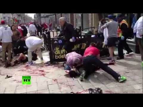 First moments after Boston Marathon blasts: Graphic video