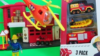 Firefighter Fireman Sam Dickie Toys Jupiter Fire Engine, Venus and Neptune Boat Unboxing and Episode