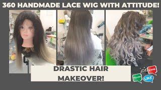 Lavender Silver Smoke Colour Handmade 360 Lace Wig by Diane Shawe #Shorts