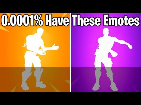 TOP 10 RAREST DANCES & EMOTES IN FORTNITE!