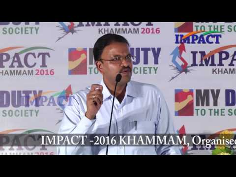 Make India Great by Sri VV Laxminarayana at IMPACT Khammam 2016
