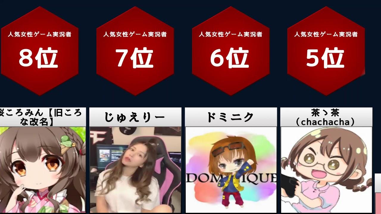 ランキング ゲーム 実況 者 人気