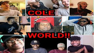 Reactors Reacting to J Cole Album Of The Year Freestyle REACTION COMPILATION