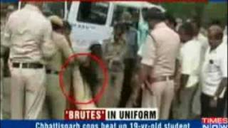 Indian Cops mercilessly thrash mentally ill student