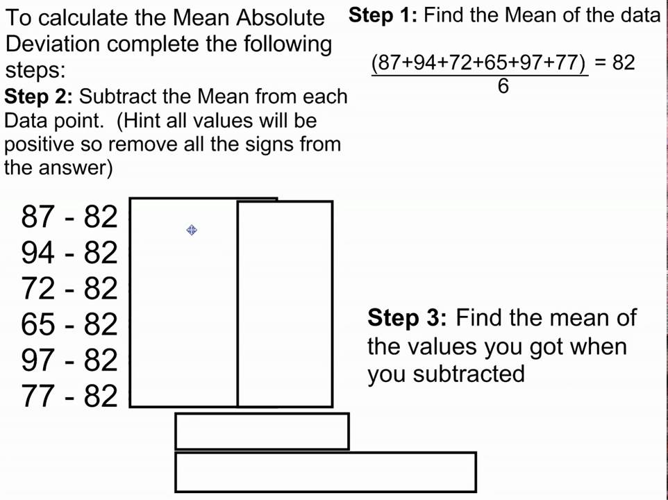Worksheets Mean Absolute Deviation Worksheet mean absolute deviation youtube