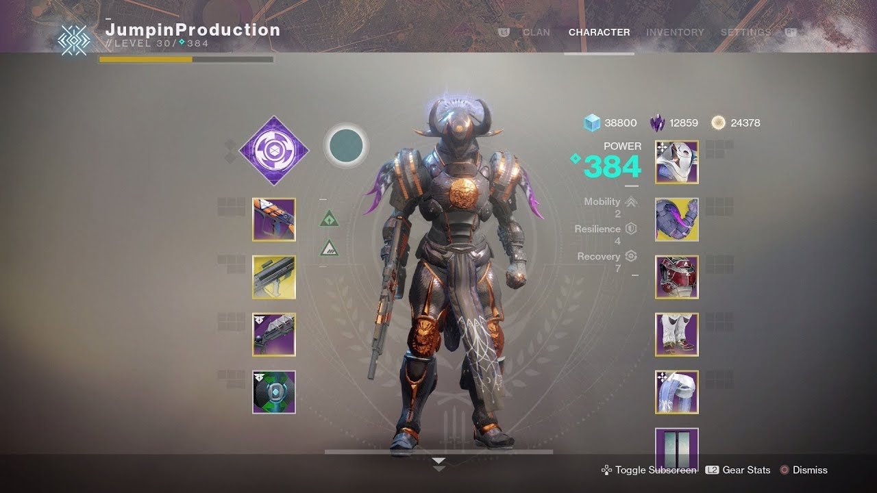 Destiny  Best Titan Build