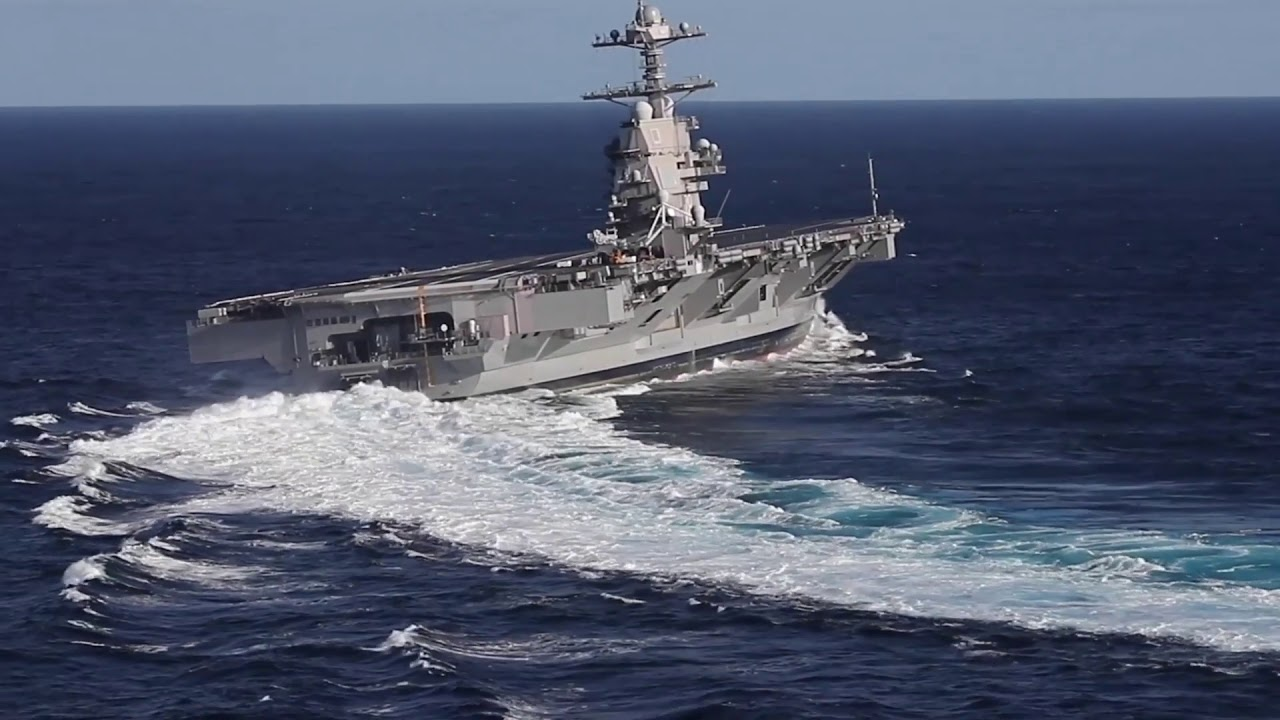 USS Gerald R. Ford Conducts High Speed Turns