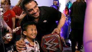 Roman Reigns receives a special message from the kids of Children's Health of Dallas