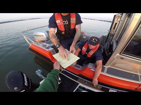 Sunrise Fishing Surprise - Coast Guard Dawn Patrol!
