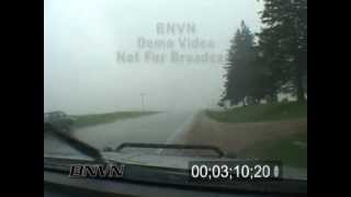 5/29/2006 Hail Storm Stock Video