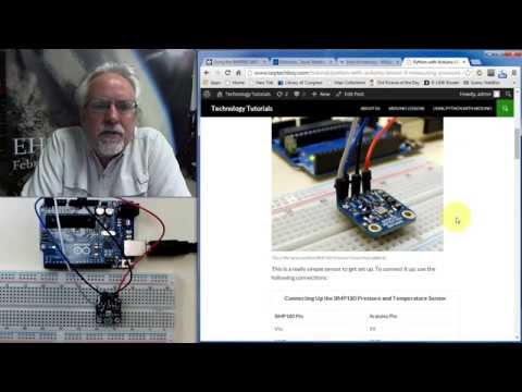 Arduino With Python LESSON 9: Measuring Pressure And Temperature With The BMP180 Sensor