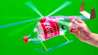 🚁 HOW TO MAKE a HELICOPTER from Coca-Cola PLASTIC BOTTLE | MAD HANDMADE