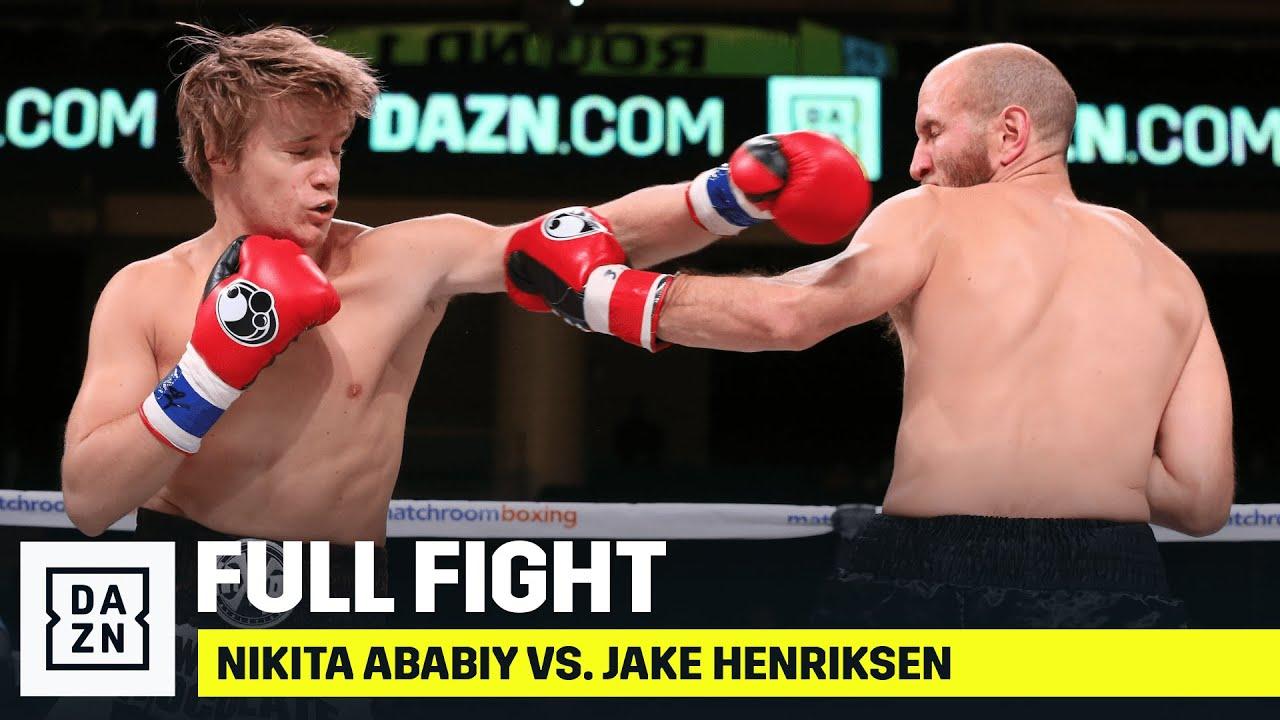 "FULL FIGHT   Nikita ""White Chocolate"" Ababiy's Pro-Debut vs. Jake Henriksen"