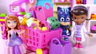 ⚡ DISNEY JUNIOR ⚡ La Princesa Sofia, Gatuno y la Doctora Juguetes van al supermercado