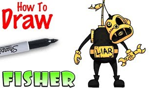 How to Draw Fisher | Bendy and the Ink Machine