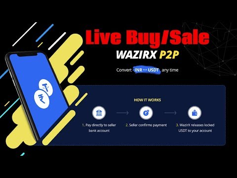 How WazirX Peer to Peer P2P Exchange Work Live Demo Buy/Sale