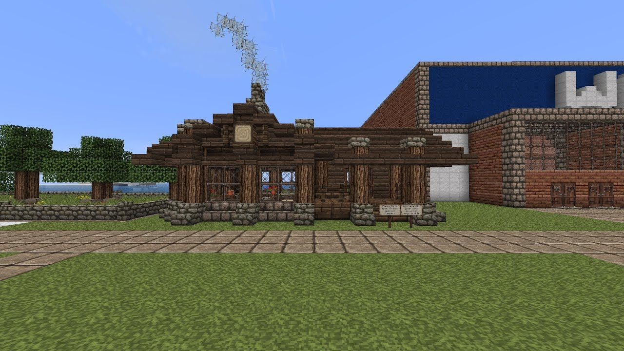 Minecraft how to build a small rustic house tutorial for How to build a house cheap and fast