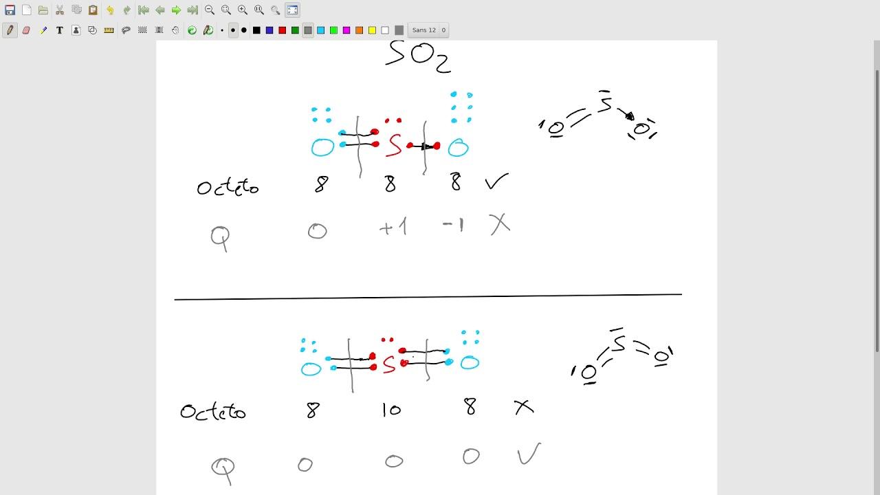 Diagrama De Lewis Del Dióxido De Azufre So2 Revisitada