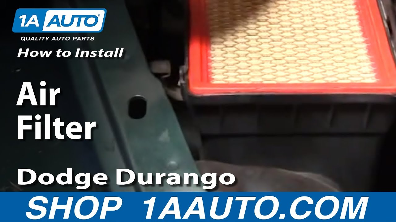 How To Install Replace Air Filter Cleaner Dodge Durango