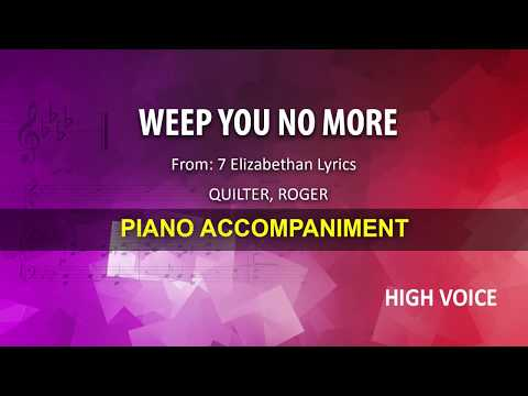 Weep You no More / Quilter: Karaoke + Score guide / High voice
