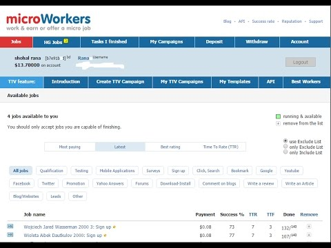 Microworkers - Forum - Sign up + Post 1x + Link (bangla)