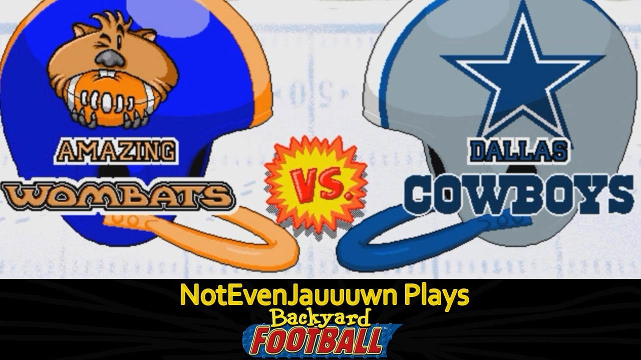 game 2 of backyard football dallas cowboys vs amazing wombats