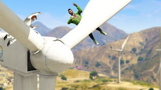 IMPOSSIBLE WINDMILL DEATHRUN! (GTA 5 Funny Moments)