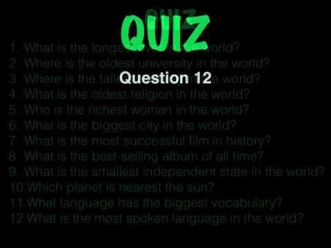 English Lessons: SUPERLATIVES QUIZ (superlative form)