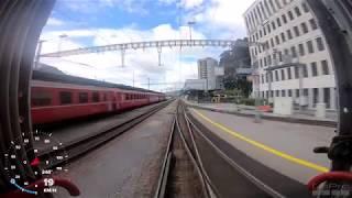 Führerstandsmitfahrt Landquart -Chur mit der Rhätische Bahn
