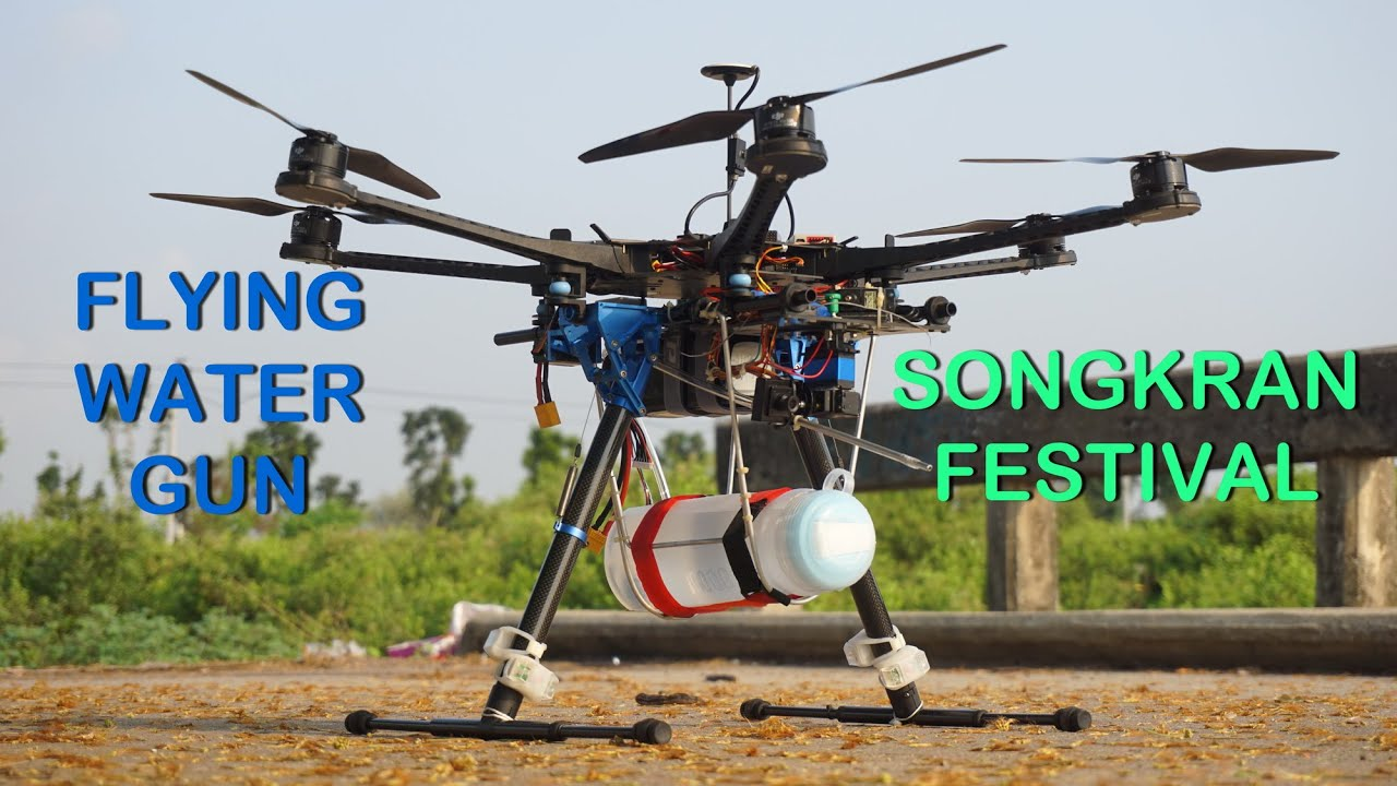 FLYING WATER GUN SONGKRAN FESTIVAL