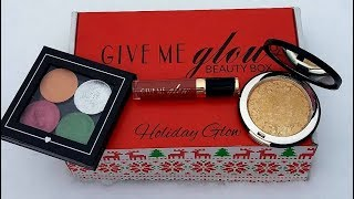 Give Me Glow Cosmetics December Beauty Box - Holiday Glow