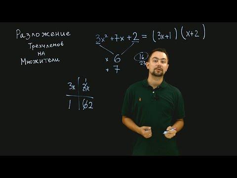 Вопрос: Как разложить на множители многочлен второй степени (квадратное уравнение)?