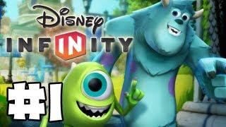 Disney Infinity - Gameplay Walkthrough - Monsters U Playset - Part 1 - Howdy Squishy (HD)