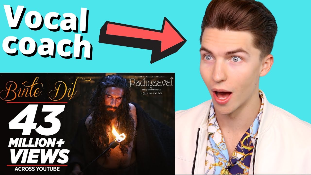 VOCAL COACH Justin Reacts to Padmaavat: Binte Dil Video Song - Arijit Singh