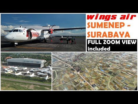 [FULL FLIGHT] SUMENEP - SURABAYA by WINGS AIR IW1809 | My First ATR72 Flight