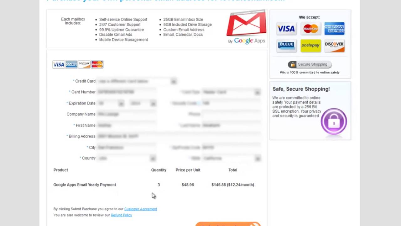 Wix Website Builder Add Google Apps Email Youtube