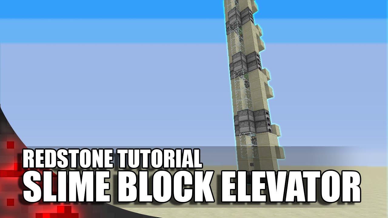 Minecraft Simple Slime Block Elevator Youtube