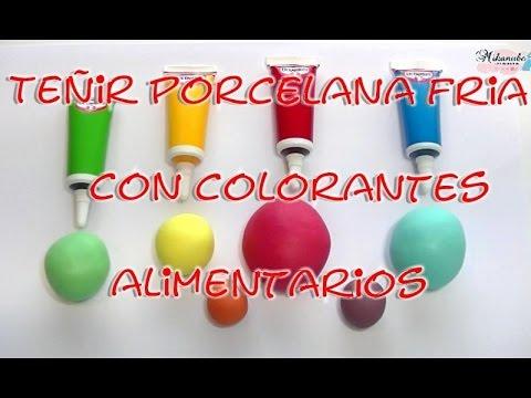 cómo teñir porcelana fría con colorantes alimentarios youtube