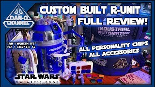 Custom R-Unit Astromech at Droid Depot Full Review- all personality chips and accessories