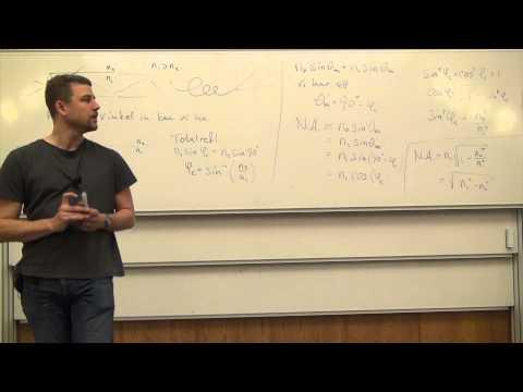 Våglära och optik, Föreläsning 8c, Fiberoptik