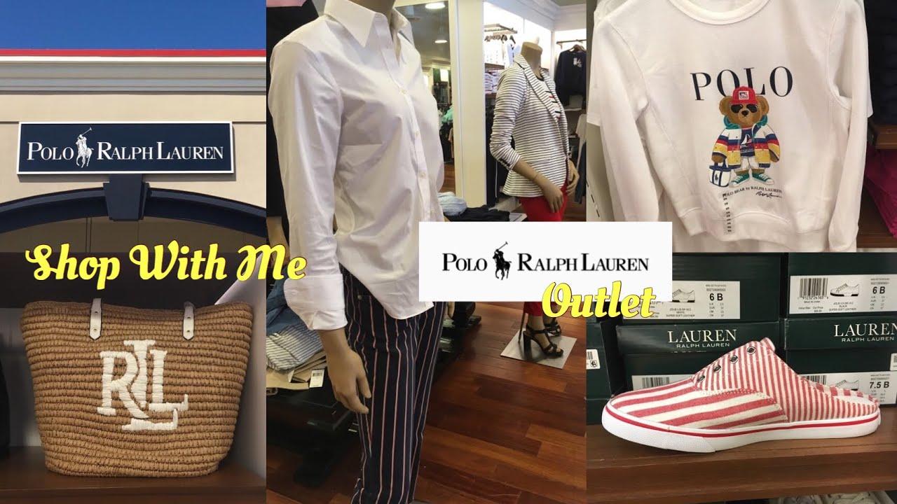 cheap for discount a0c43 d6ee8 Polo Ralph Lauren Outlet Store SHOP WITH ME Apparel Handbags Shoes