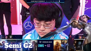G2 vs DWG - Game 2 | Semi Finals S10 LoL Worlds 2020 PlayOffs | G2 eSports vs DAMWON Gaming G-2 full