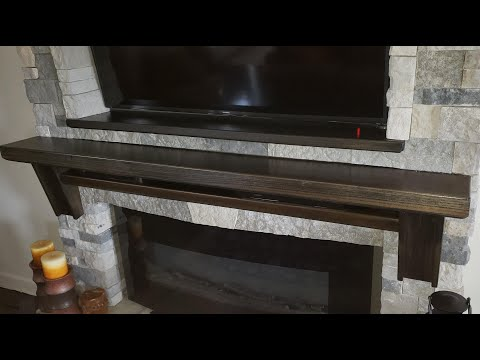 Split Face Fireplace Mantel.  This is a mockup of how and why I built it the way I did.