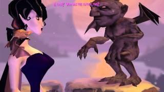 """A Vampyre Story"", full HD walkthrough, Part 8 - Bridge (Gargoyle Rufus dialogue)"