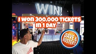 How To Win Big At Dave & Busters *300,000 Tickets In 1 Day*