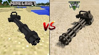 MINECRAFT MINIGUN VS GTA 5 MINIGUN - WHICH IS BEST?