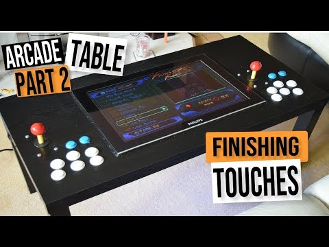 D.I.Y. MAME ARCADE COFFEE TABLE CHALLENGE PART #2 –  ARCADE MACHINE BUILD GUIDE