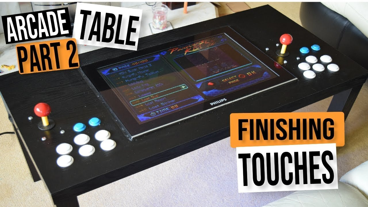 Mame Coffee Table.D I Y Mame Arcade Coffee Table Challenge Part 2 Arcade Machine Build Guide