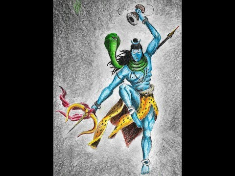 Lord Shiva Color Drawing