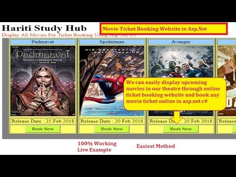 Display Movies List For Online Movie Ticket Booking Website in Asp.Net | Hindi | Free Online Class